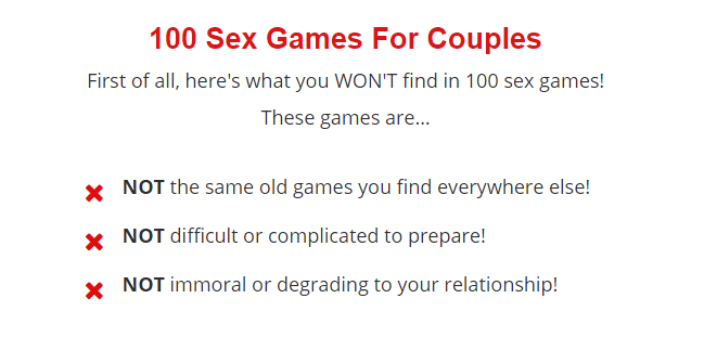 100 Great Sex Games for Couples Review