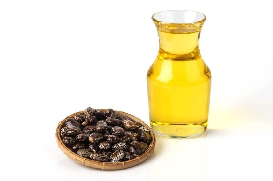 Castor oil with castor fruits