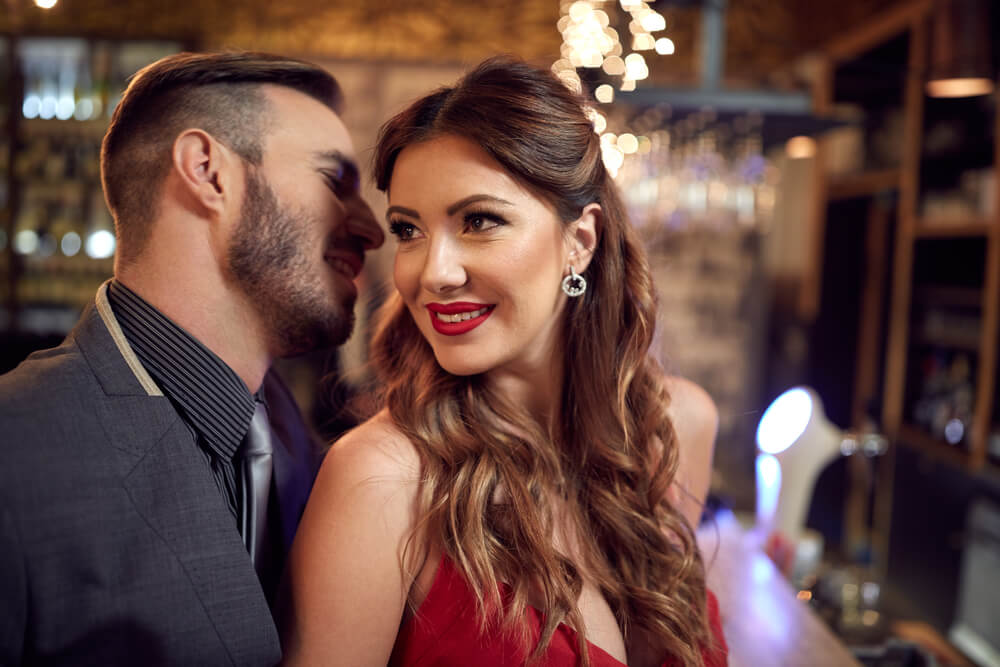Man and woman enjoying in romantic relationship