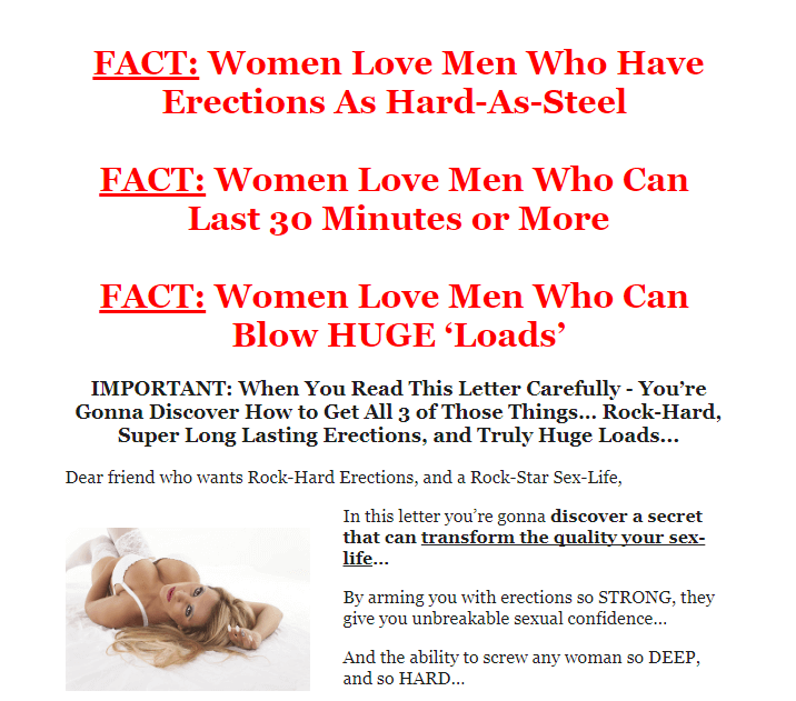 The Huge Load Formula Facts