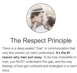 The respect principle