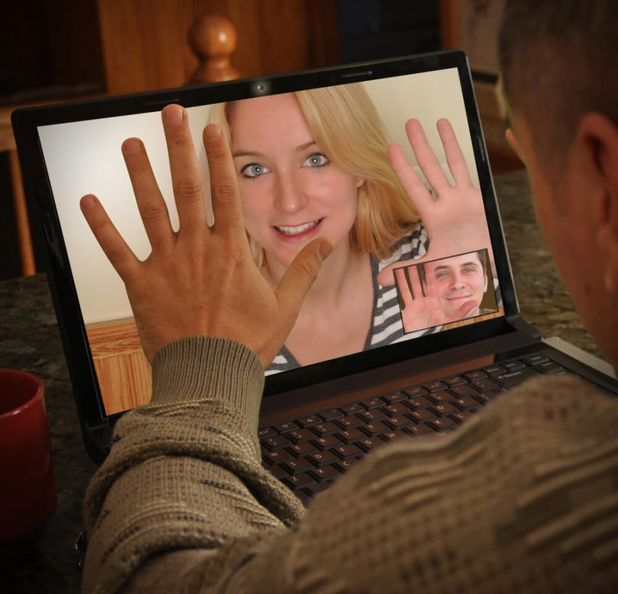 communicating on a web cam