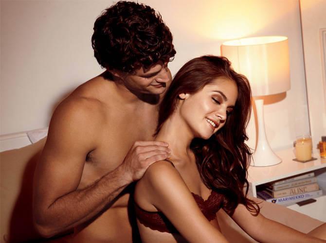 Couple doing a massage