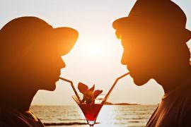 drinking-couple