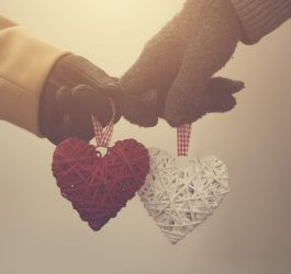holding hands and hearts