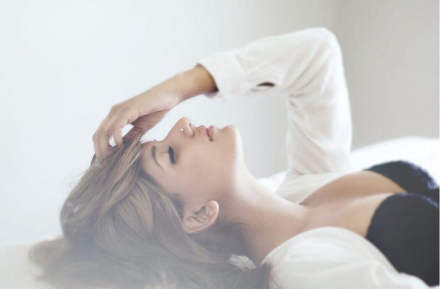 woman lying down